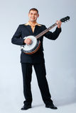 играть человека банджо Стоковые Фотографии RF