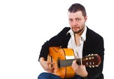 играть человека гитары иллюстрация вектора