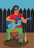 играть человека гитары Стоковые Изображения