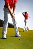 играть человека гольфа Стоковое Изображение