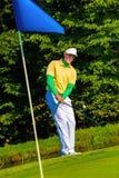 играть человека гольфа Стоковые Фотографии RF