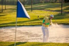 играть человека гольфа Стоковая Фотография RF