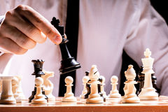 играть человека шахмат Стоковое Изображение