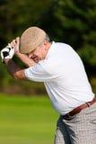 играть шарика ударенный гольфом Стоковая Фотография