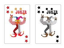 играть шутника карточки Стоковые Изображения