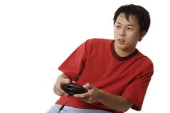 играть электронных игр Стоковые Фото