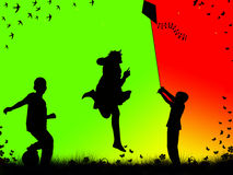 играть детей Стоковые Изображения