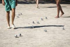 Играть boules в Франции Стоковые Изображения RF