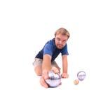 играть petanque человека Стоковое Изображение RF