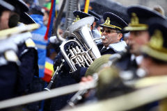 Играть saxhorn Стоковое Изображение