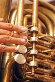 играть tuba Стоковое Фото