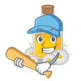 Играющ масло стоцвета бейсбола изолированное с талисманом бесплатная иллюстрация