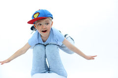 Играющ с ребенком, утехой и улыбкой Стоковые Изображения