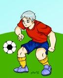 Играющ футбол - защитника Стоковые Фотографии RF