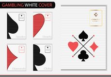Играя в азартные игры белая крышка - вектор иллюстрация штока