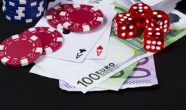 Играя в азартные игры выигрывая принципиальная схема денег Стоковые Фотографии RF