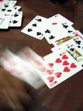 играя в азартные игры движение руки Стоковая Фотография