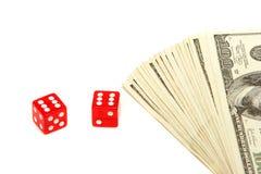 играя в азартные игры деньги Стоковые Фото