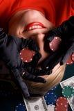 играя в азартные игры детеныши женщины Стоковые Фото