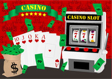 играя в азартные игры иллюстрация Стоковое Изображение