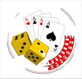 играя в азартные игры иллюстрация бесплатная иллюстрация