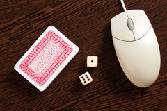 играя в азартные игры интернет Стоковая Фотография