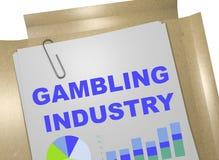 Играя в азартные игры индустрия - концепция дела бесплатная иллюстрация