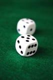 Играя в азартные игры кость Стоковое Изображение