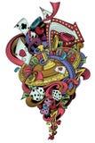 Играя в азартные игры мир Стоковая Фотография
