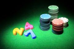 Играя в азартные игры наркомания Стоковые Фото