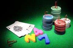 Играя в азартные игры наркомания Стоковое фото RF