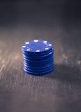 Играя в азартные игры обломоки, ретро обрабатывать цвета стиля стоковое изображение