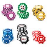 Играя в азартные игры обломоки Стоковое фото RF