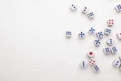 Играя в азартные игры предпосылка кости Стоковое Изображение RF