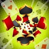 Играя в азартные игры предпосылка Стоковые Изображения RF