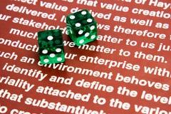Играя в азартные игры предприятие Стоковая Фотография RF