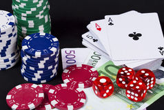 Играя в азартные игры принципиальная схема Стоковое фото RF