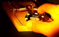 играя в азартные игры риск Стоковая Фотография