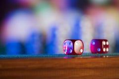 Играя в азартные игры тема E стоковое фото rf