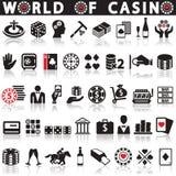 Играя в азартные игры установленные иконы Стоковое Изображение RF