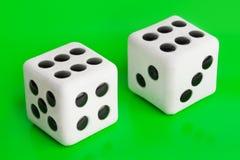2 играя в азартные игры dices Стоковое Изображение