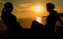 играя главные роли солнце Стоковое Фото