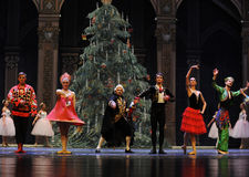 Играя главные роли вызов актеров на сцену - Щелкунчик балета стоковая фотография