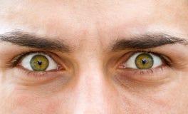 Играя главные роли глаза стоковые изображения