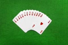 Играя изолированные карточки Стоковая Фотография
