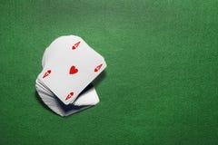 Играя изолированные карточки Стоковые Изображения