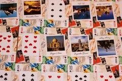 Играя карточка Справочная информация стоковая фотография