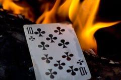Играя карточка стоковые изображения rf