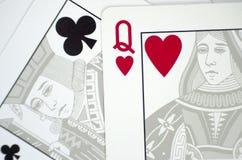 Играя карточки близко вверх Стоковое Фото
