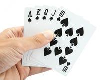 Играя карточки в руке Стоковые Фотографии RF